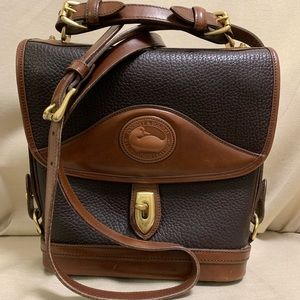 Dooney & Bourke B702 Chocolate and Cedar Crossbody